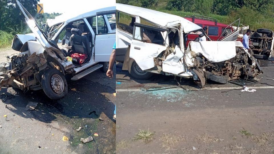 Buldhana: तीन वाहनांचा विचित्र अपघात; 4 भाविकांचे निधन, 7 गंभीर
