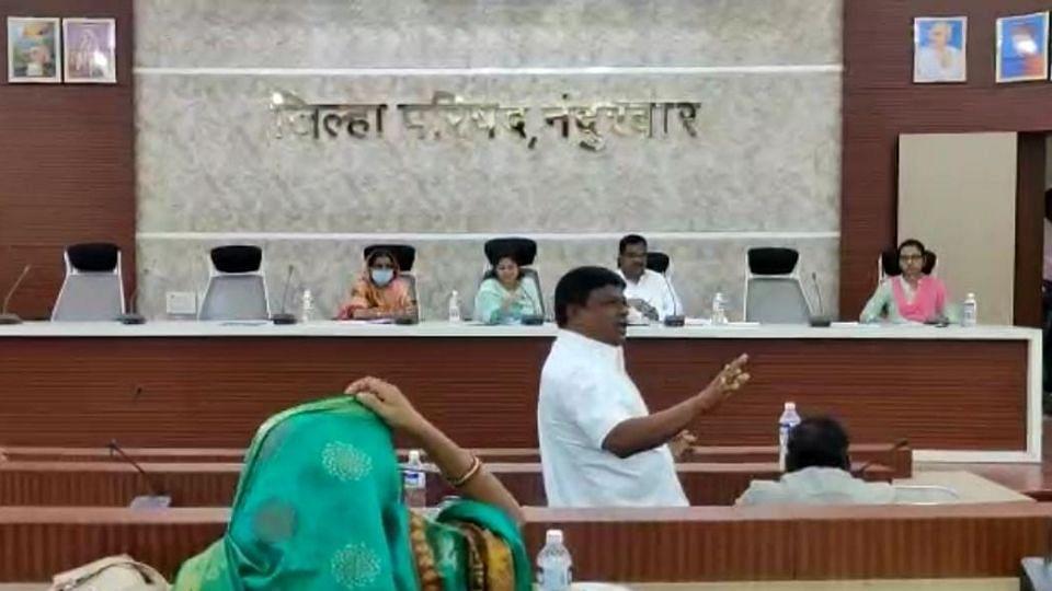 Nandurbar : जिल्हा परिषदेतील स्थायी समितीत खडाजंगी!