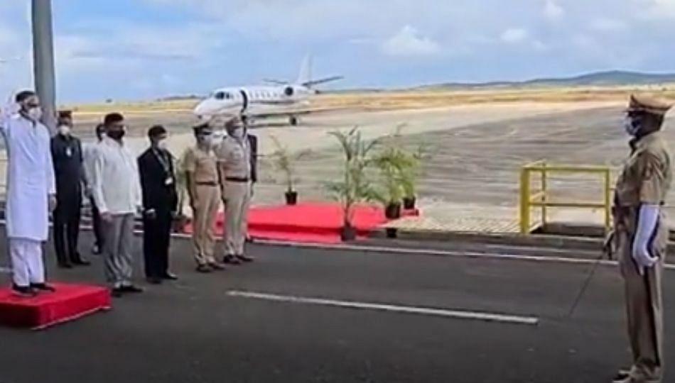 Sindhudurg: CM उध्दव ठाकरे चिपी विमानतळावर दाखल