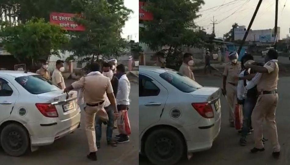 शेतीच्या खरेदीसाठी आलेल्या तरुणाला पोलिस अधिकाऱ्याने मारले