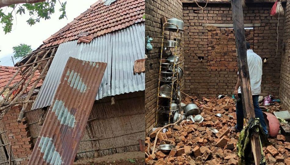 तौक्ते चक्रीवादळाचा दुर्गाम भागाला फटका: कर्जत तालुक्यातील फळबागे आणि घरांचे नुकसान