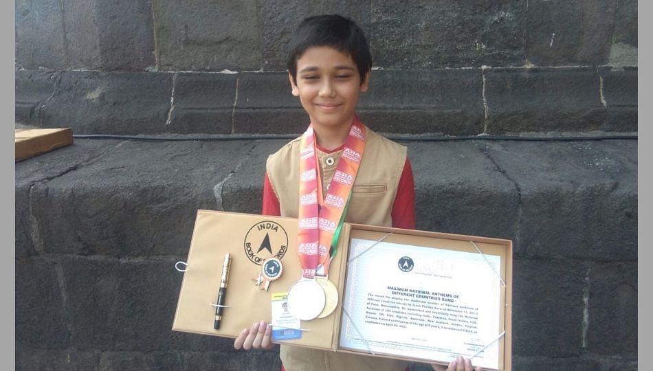 वय अवघं 9 वर्षे....पण शंभर देशांची राष्ट्रगीतं तोंडपाठ!