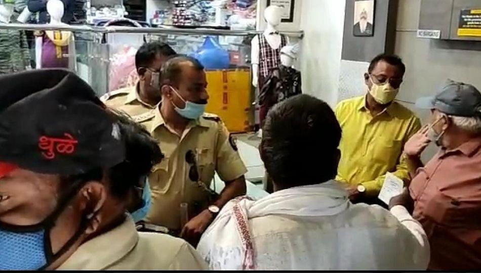 धुळे शहरात नियमांचे उल्लंघन करणाऱ्या दुकानदारांवर शहर पोलिसांची धडक कारवाई