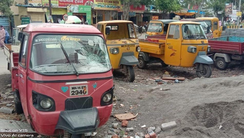 पिंपरी - चिंचवड मध्ये वाहनांची तोडफोड...