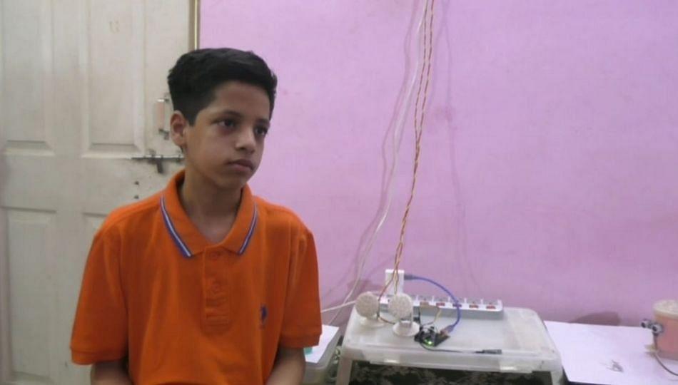 लॉकडाउन काळात 13 वर्षाच्या मुलानं बनवलं यांत्रिक उपकरण