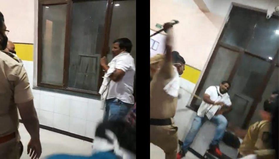 उपविभागीय पोलीस अधिकारीऱ्या मारहाण करतानाचा व्हिडीओ व्हायरल