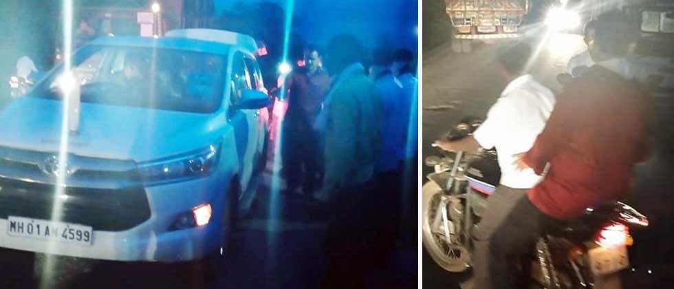 राज्यमंत्री भरणेंनी जखमीला गाडी दिली अन् स्वतः दुचाकीवरून घरी गेले