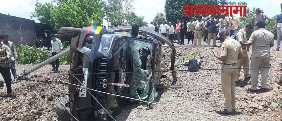 विश्वजीत कदम यांच्या ताफ्यातील गाडीला अपघात