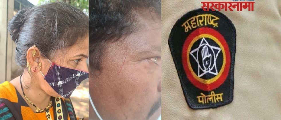 कष्टकरी नेत्याला मारहाण एनसी दाखल; पोलिसाला मारहाण थेट गुन्हा नोंद