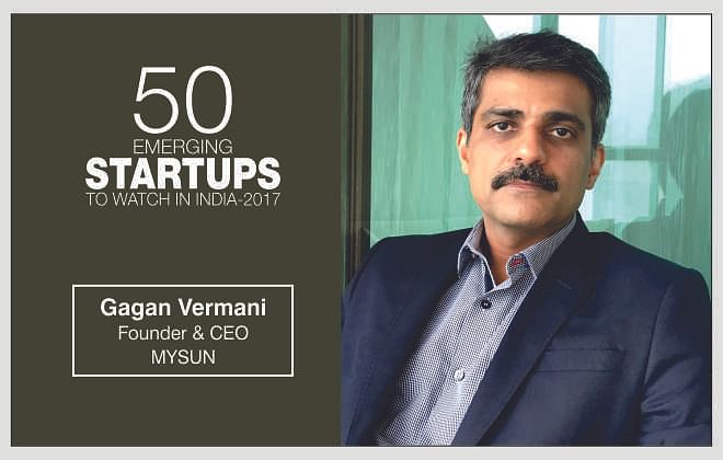 """""""We are rediscovering sun's golden energy with a unique business approach""""- Mr. Gagan Vermani, Founder & CEO, MYSUN"""