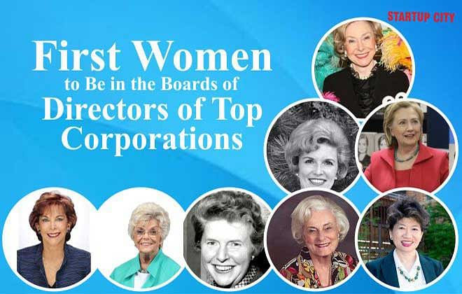 First Women to Be in the Boards of Directors of Top Corporations