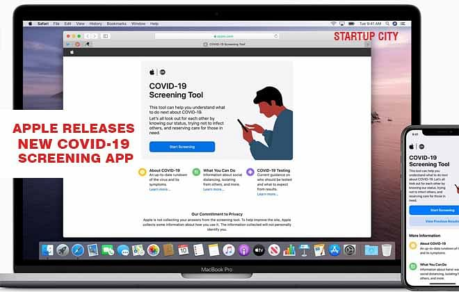 Apple releases new COVID-19 screening app in collaboration with the CDC