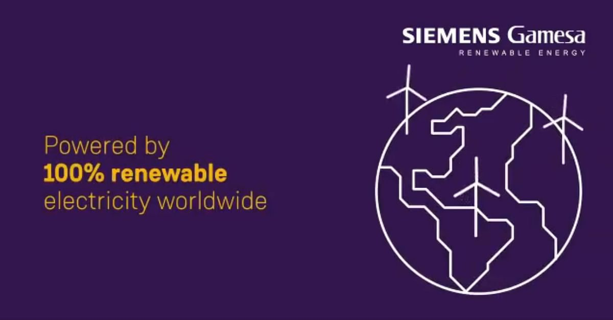 Siemens Gamesa Powered by 100% Renewable Electricity Worldwide
