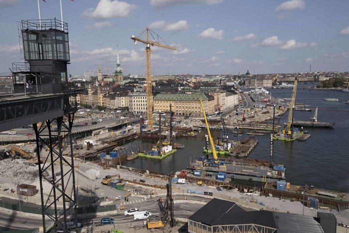 Industeel Duplex Plates for Stockholm New Slussen Project