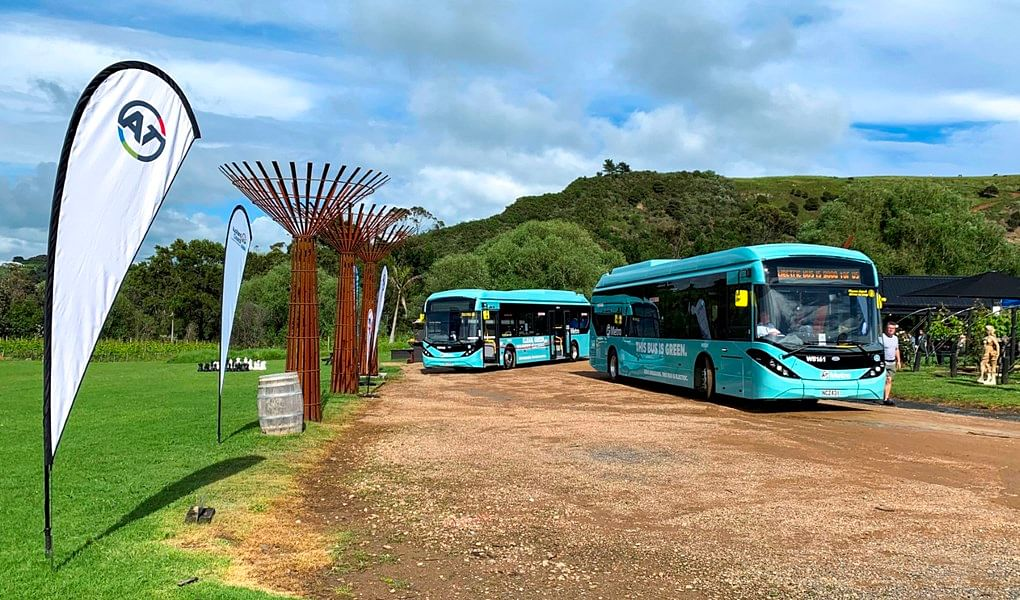 ADL Delivers Electric Buses to Auckland's Waiheke Island
