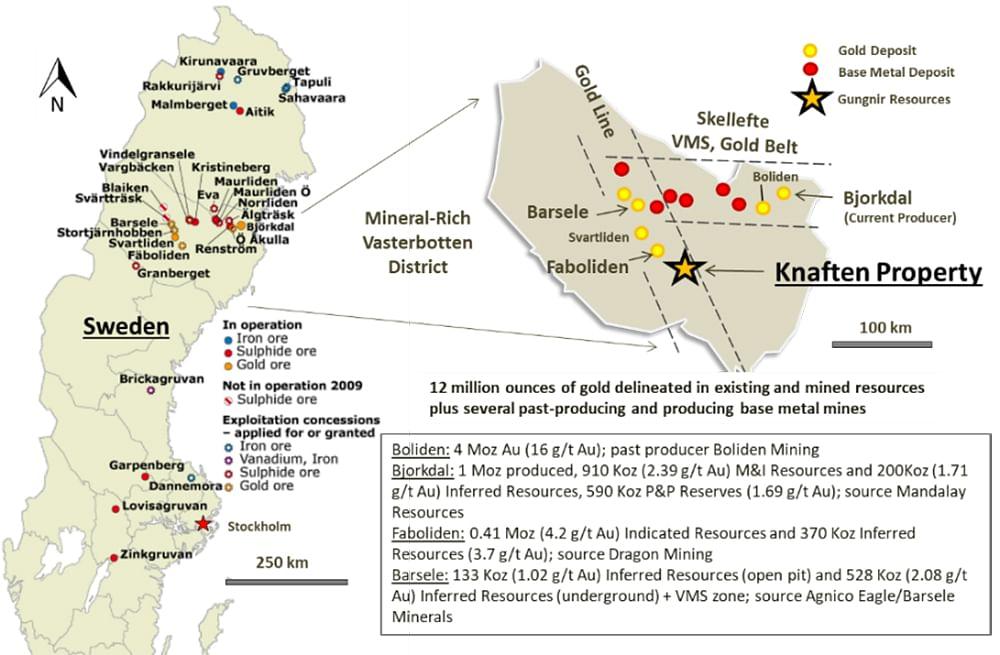 Gungnir Resources Doubles Extent of Knaften 300 Gold Zone