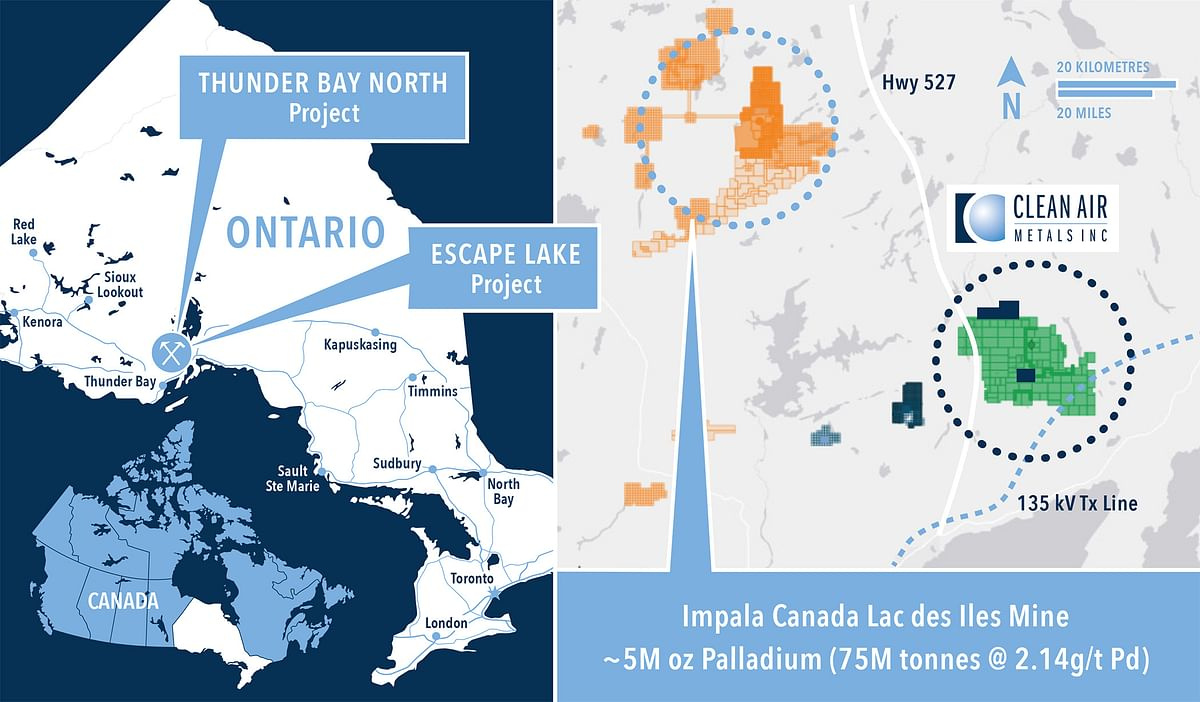 Clean Air Metals Update on Thunder Bay North Project