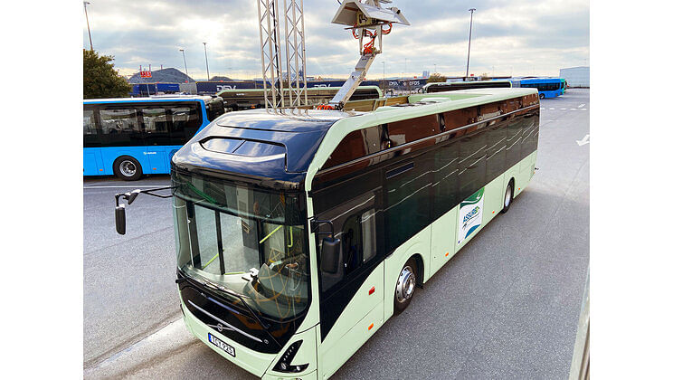 Volvo Buses Presents New Alternative for Charging Elect Buses