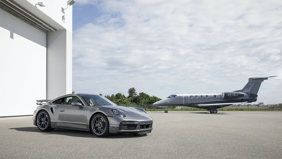 Porsche & Embraer Present Ultimate Sports Car & Jet Pair