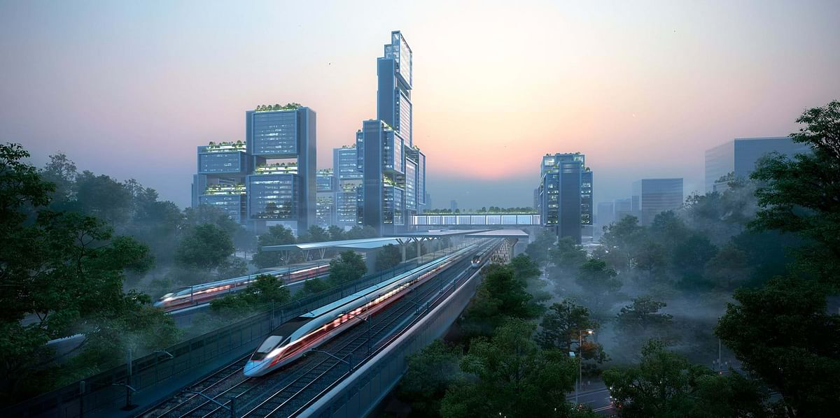 Foster & Partners Unveils Scheme for Guangming Hub