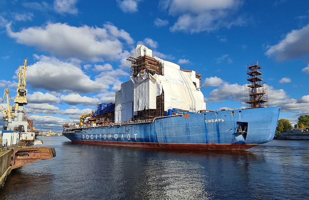 Nuclear Icebreaker Siberia Relocated to a New Location
