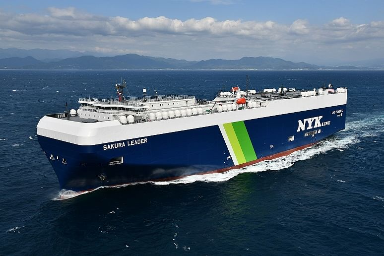 Japan's First LNG Fueled PCTC Delivered
