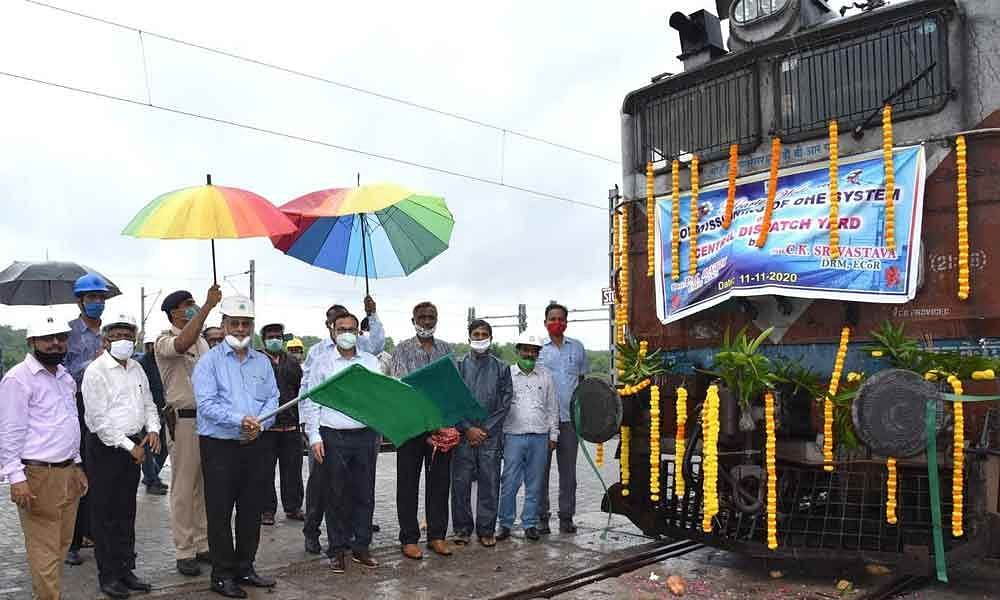 RINL CMD Inaugrates OHE at Central Dispatch Yard