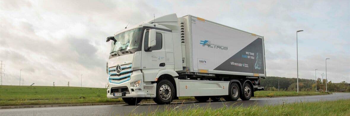 Van Mieghem Logistics Tests Mercedes-Benz eActros in Belgium