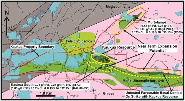 Palladium One Mining Step Out Hole Yields Highest Grades at Kaukua