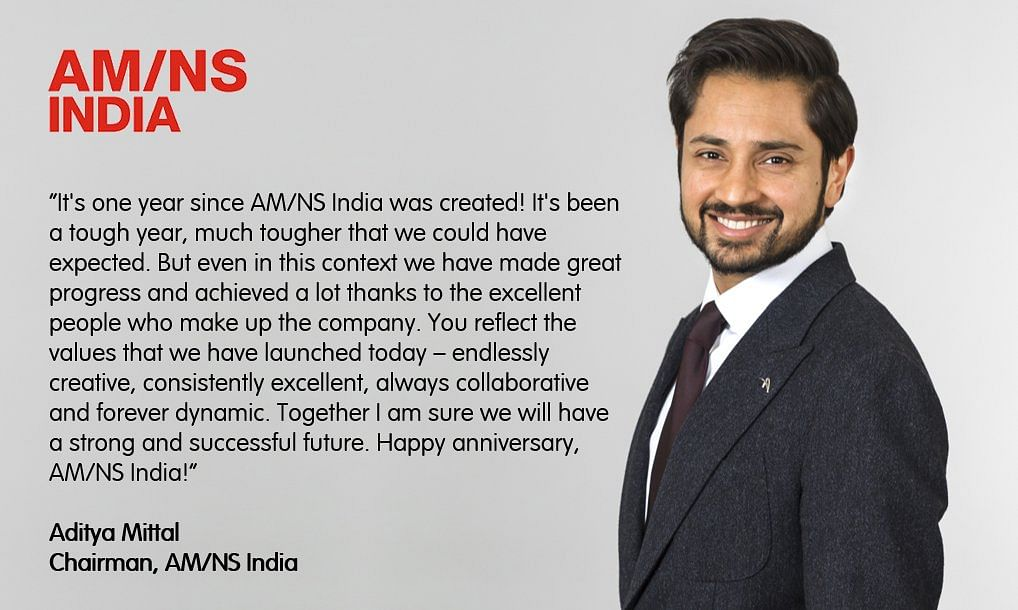 AMNS India Chairman Mr Aditya Mittal Shares India Vision