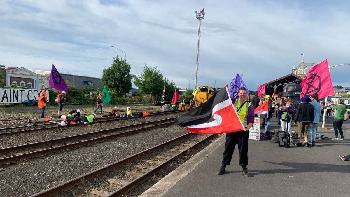 Climate Activists Block Coal Train Track in New Zealand