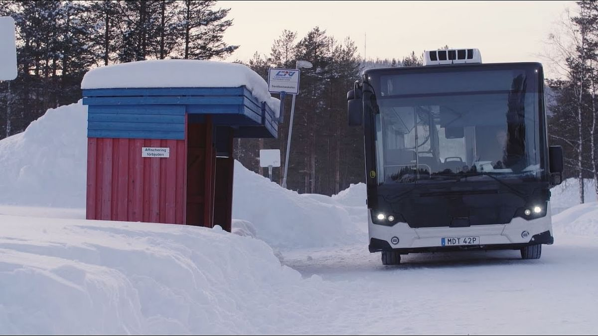 Scania Citywide Tested in Freezing Temperatures in Arvidsjaur