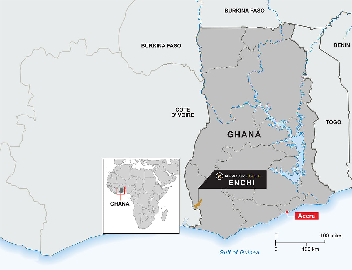 Newcore Gold Update on Enchi Gold Project in Ghana