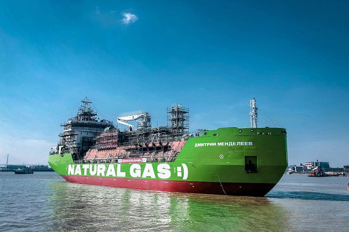 Gazprom Neft LNG Bunkering Vessel Set Afloat