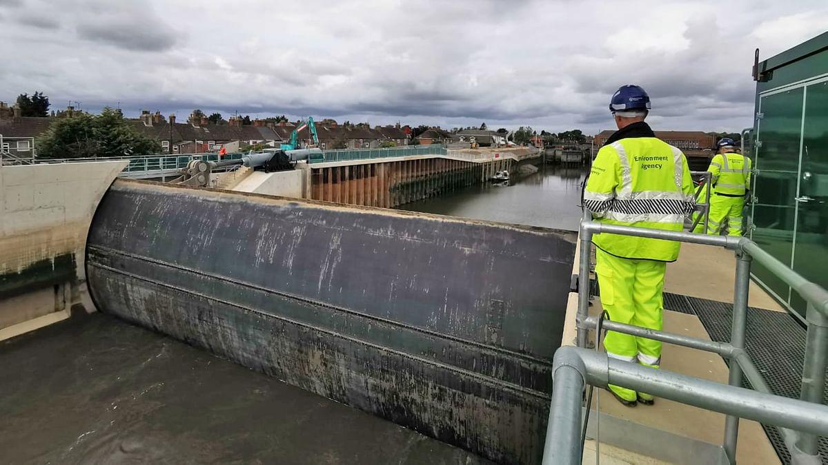 Boston Barrier Flood Gate Fully Operational