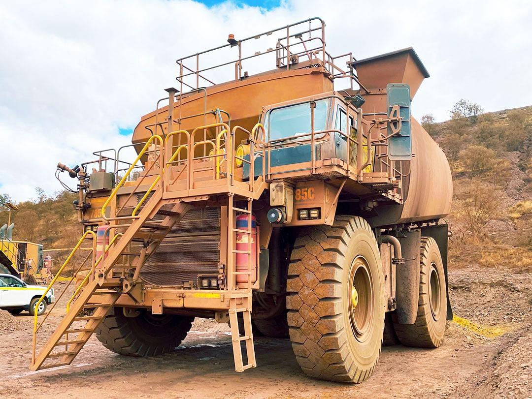 Scania Gas Powered Mining Truck in Gerdau Iron Mines in Itabirito