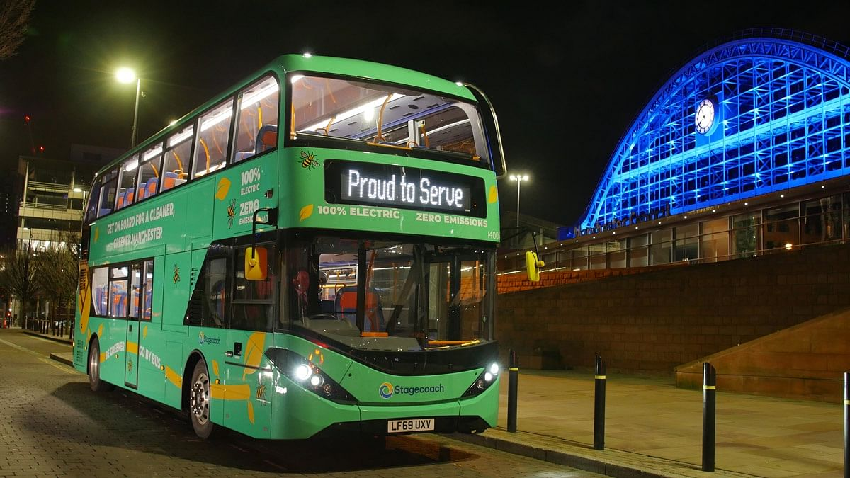 Stagecoach Electric Double Deckers in Greater Manchester
