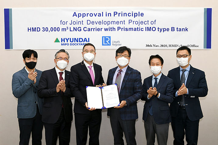 LR Awards AiP to HMD for LNG Carrier with IMO Type B Tank