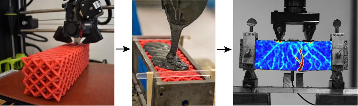 Polymer Lattice Reinforcement for Enhancing Ductility of Concrete