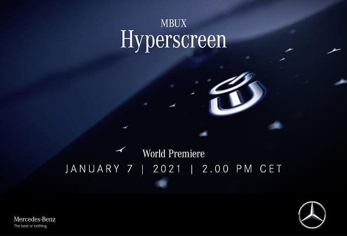 Mercedes Benz to Unveils MBUX Hyperscreen