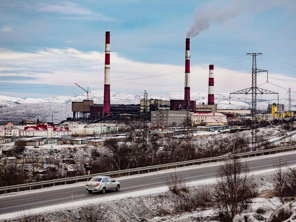 Nornickel Smelter Nikel Town