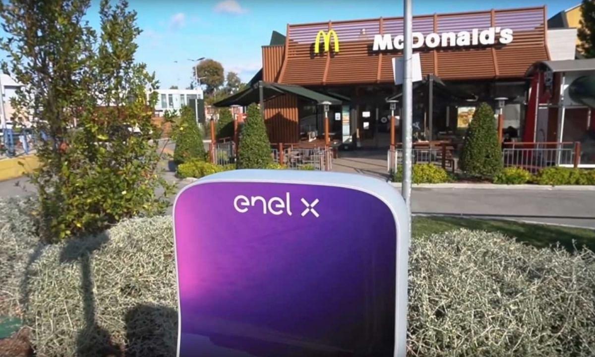 Enel X Installs 200 EV Chargers at McDonald Italia Chain