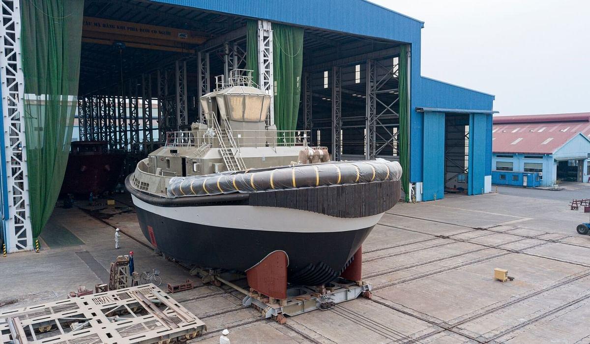 Damen RSD-E Tug 2513 Launched at Song Cam Shipyard