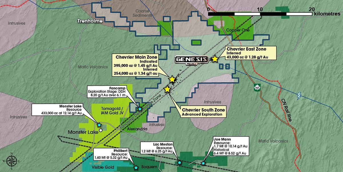 Genesis Metals Update on Chevrier Gold Project in Quebec