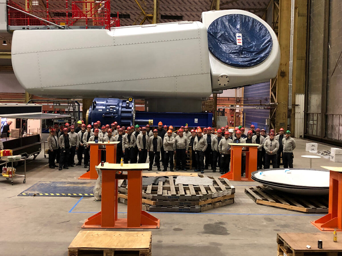 MHI Vesata Produces 500th V164 Nacelle at Lindo Facility