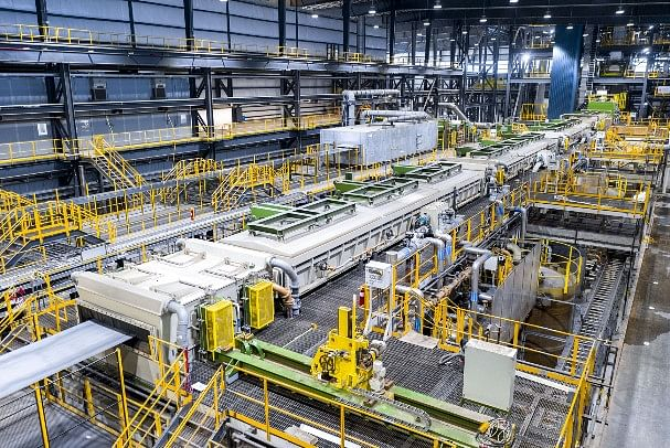 Galvanizing Line with Heat to Coat Tech at Nucor Steel Gallatin
