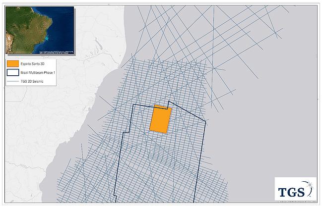 TGS Announces Espirito Santo MultiClient 3D Survey Offshore Brazil