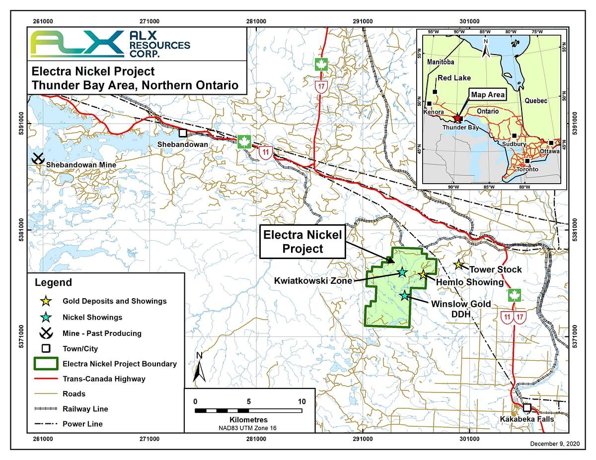 ALX Resources to Buy Electra Nickel Project in Ontario