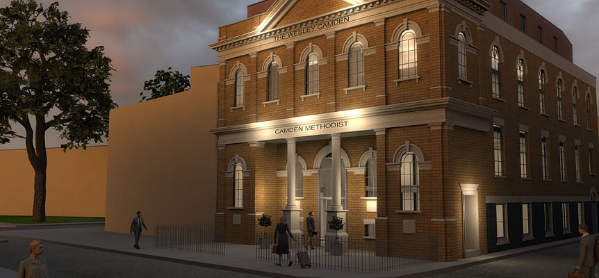 Camden Methodist Church to Transform to Hotel & Worship Space