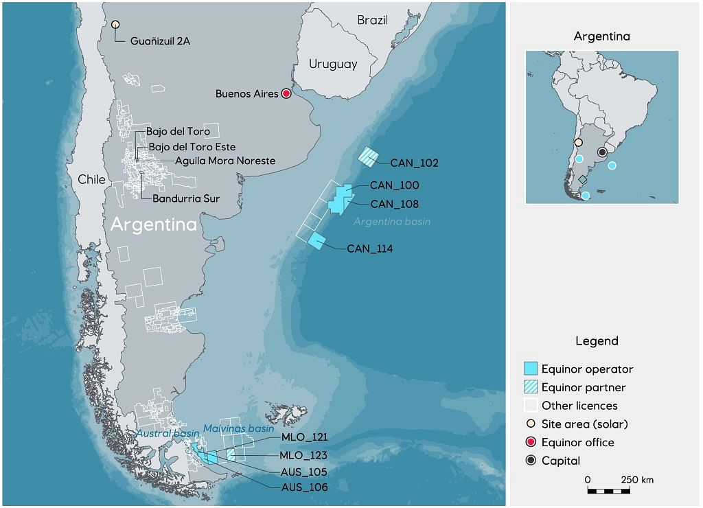 Equinor & YPF partner with Shell in CAN Block Offshore Argentina